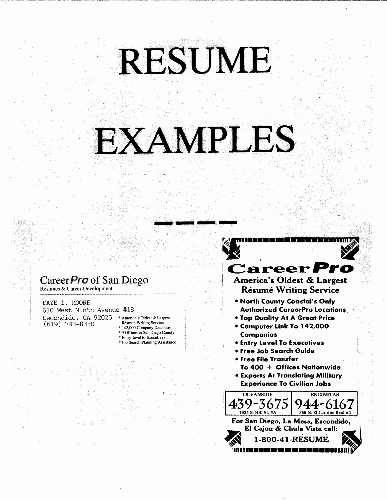 career pro resume services
